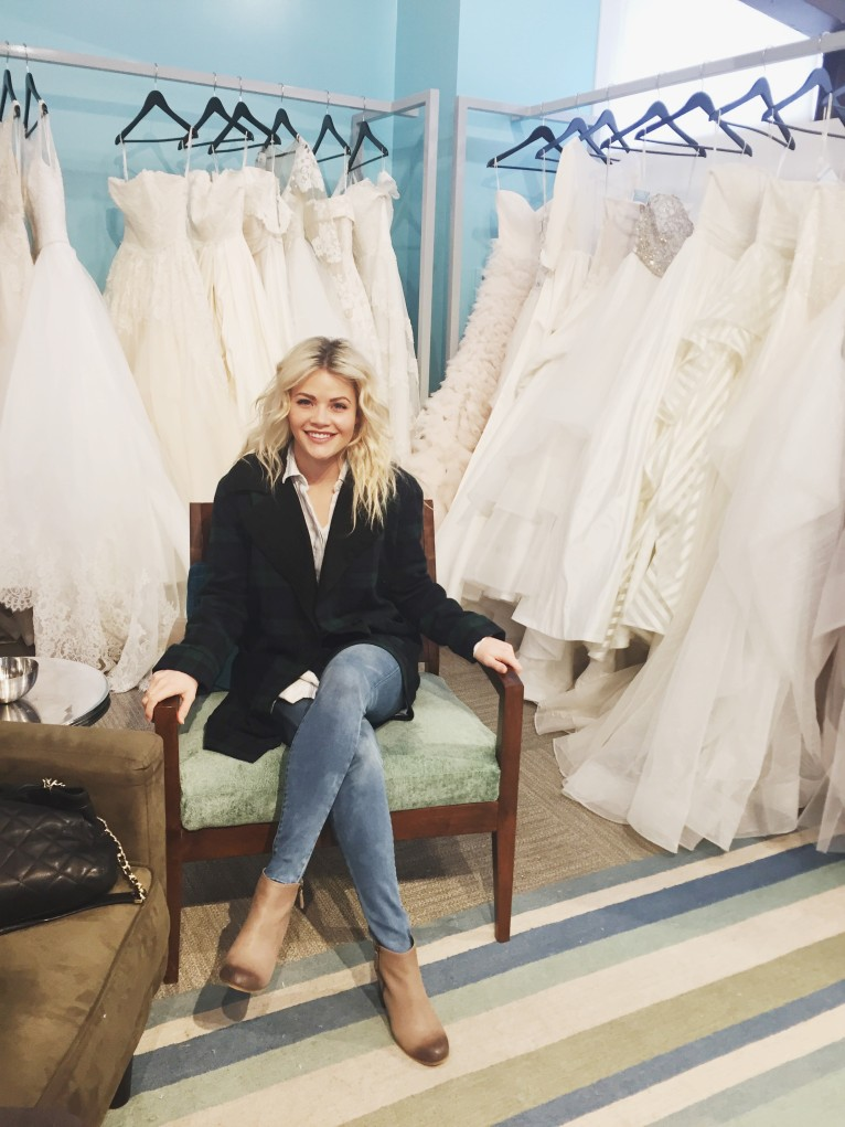 Witney Carson Wedding Dress Fitting